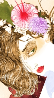 #art #woman #drawing #illustration #ceilingart #wallart #bacchants #meursault #restaurant #andymartin #noumedacarbone