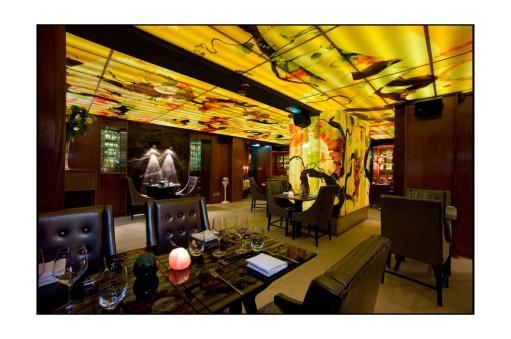 #art, woman, drawing, illustration, ceiling art, wall art, bacchants, meursault restaurant, andy martin