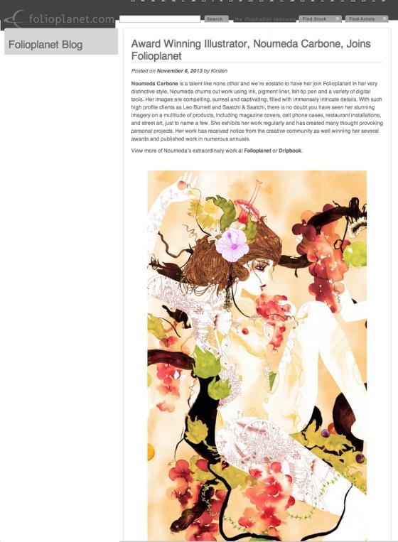 #Folioplanet, #Noumeda, #award, #winner, #illustrator