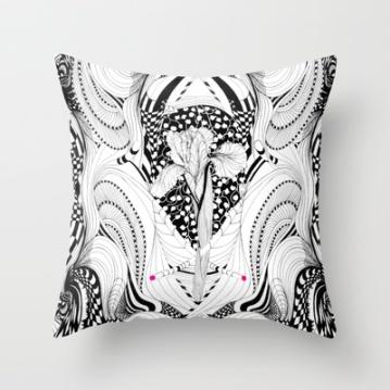 #illustration#home ##THROW #PILLOWS #decor#TEES#pillow#textiles#Prints#drawing #Noumeda #Carbone