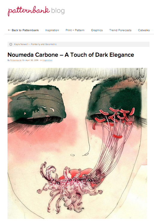 #Patternbank – #Noumeda Carbone – A Touch of #Dark #Elegance
