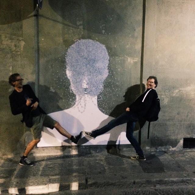 #fcvfirenze #streetart by #italian #artist #Noumeda #Carbone #jefaerosol  #yahnblusseau #jefaerosol   #Clet Abraham