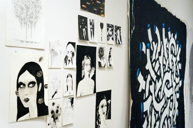 Live painting ,drawing, noumeda, line art, ink, cotton paper, live painting, artist residency, follow the line, contemporary, art,,Follow the line - artist residency in florence - noumeda carbone original art