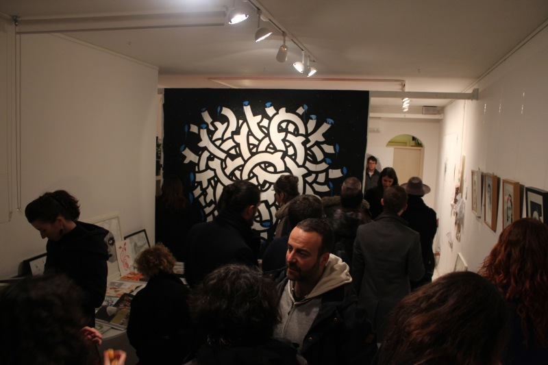 drawing, noumeda, line art, ink, cotton paper, live painting, artist residency, follow the line, contemporary, art,