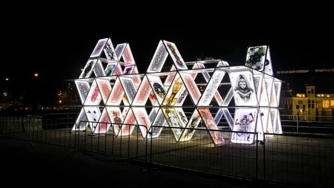 Amsterdam Light Festival playing cards by Noumeda