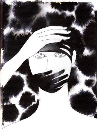 postcard original drawing by noumeda