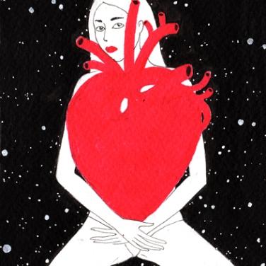 170 $. Postcard drawing by Noumeda Carbone