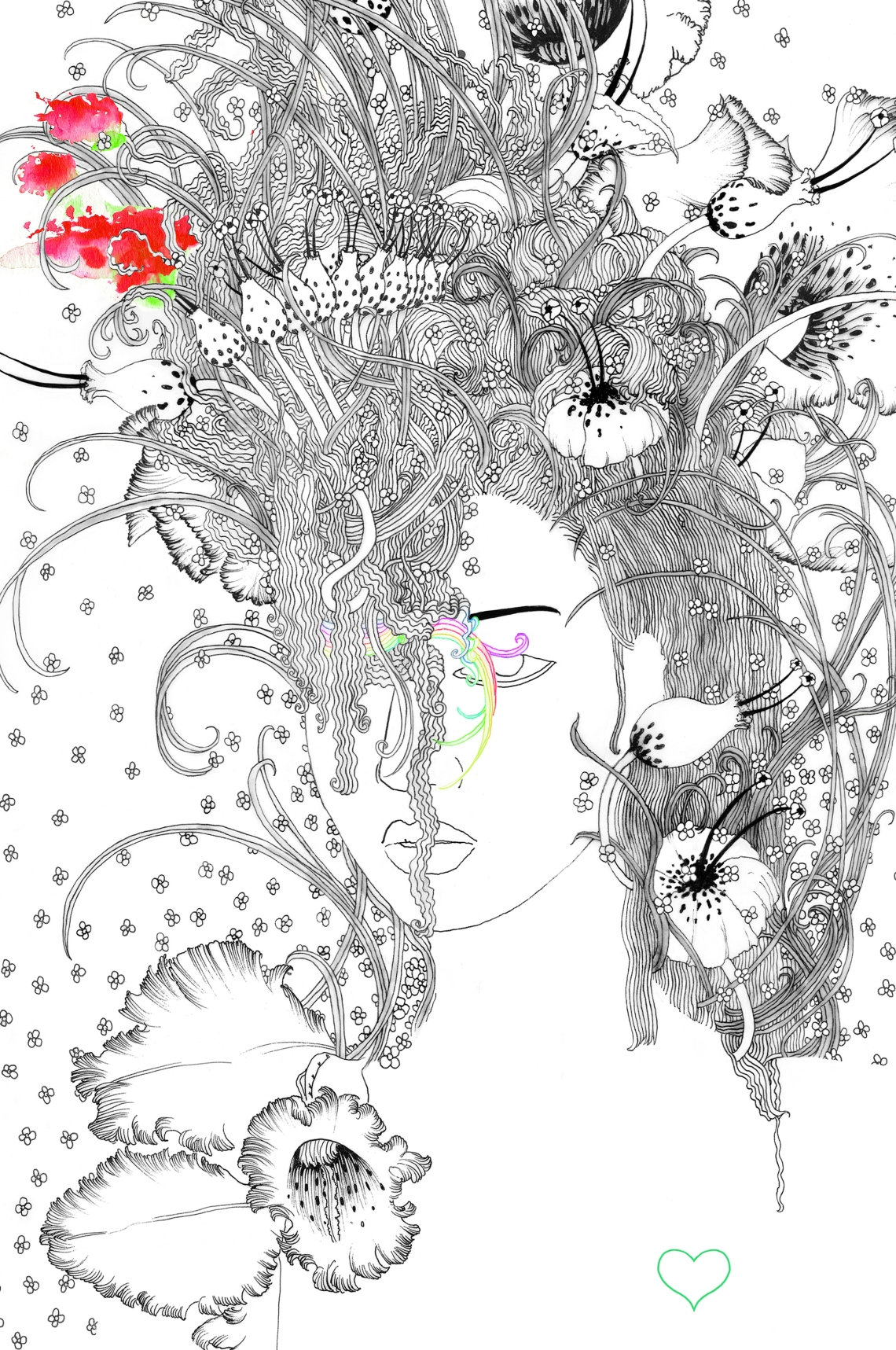 #LuisaViaRoma #refined #illustration #drawing #noumeda #art #print #limited #edition #shop #home #decor #inspiredbynature #flowers intricate #refined