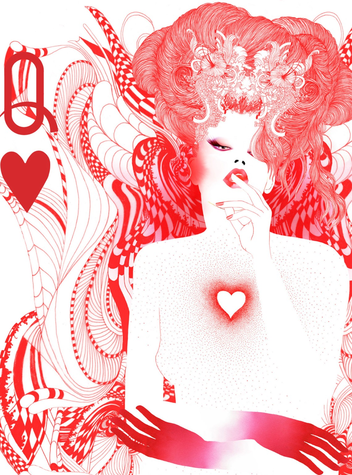 the #queen of #hearts by #noumeda #wia #award #illustration #2015 #playing #cards