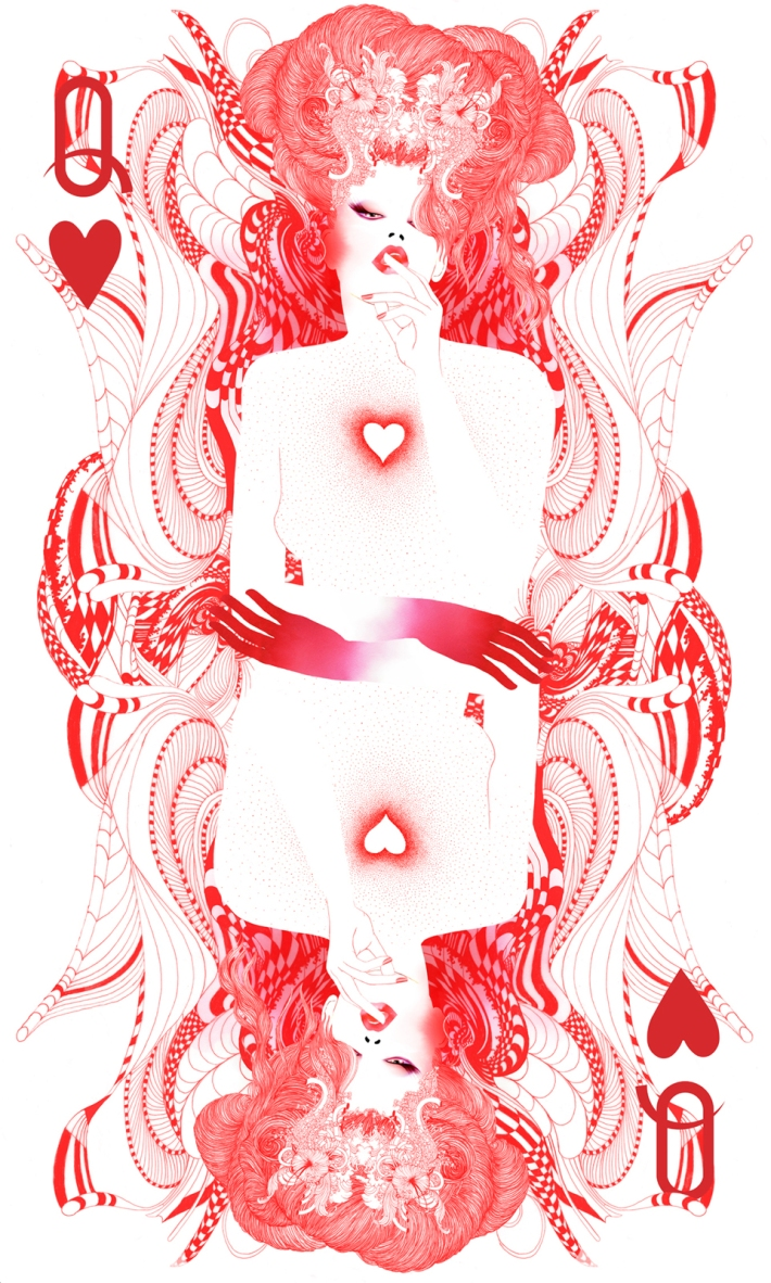 the #queen of #hearts by #noumeda #wia #award #illustration #2015