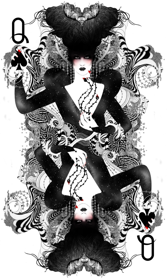 the #queen of #spades by #noumeda #wia #award #illustration #2015