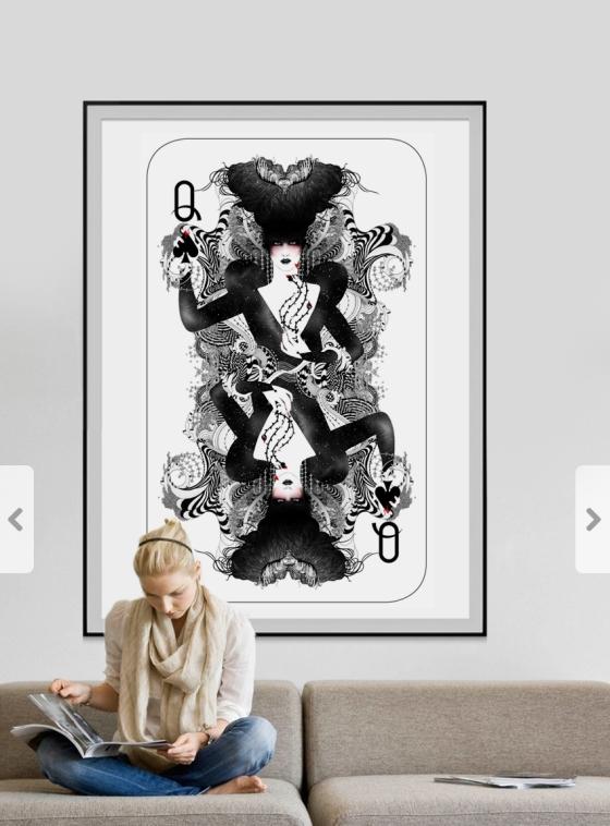 #poster #art #prints#gift#italian#artist #female#elegant#artshop#buyartnoumeda#girl #feminine #lines #,ixed media