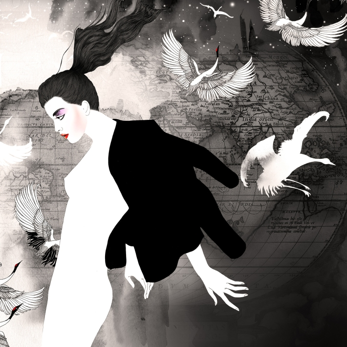 #fashionillustration #la perla #fashion #illustration #femaleartist #illustration #artwork #visula #2dart #italianillustrator #frenchtouch #luxury #lingerie #isetan #tokyo #noumeda #corset