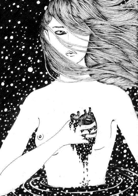 #art #noumedacarbone #gift #artgift #contemporaryflorence #Christmas #artonpaper #noumeda #illustration #postcards #minisizeart #surrealart #frenchtouch #2dart #italianartist #femalebody #femaleartist #blackandwhite #lineart #finelineart #drawing #ink #contemporarydrawing #dessincontemporain #cosmos #stars #dark #love #getlost